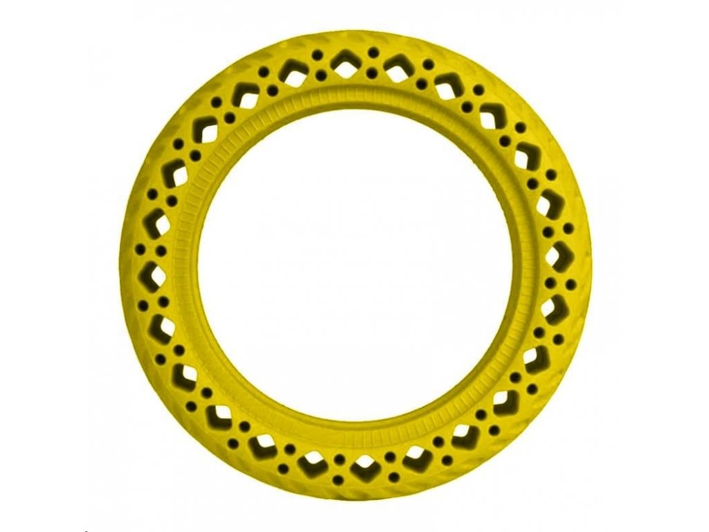 Yellow Rubber Wheels for Xiaomi Scooter (OEM)